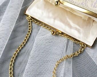 Beaded Clutch, Beaded Purse, Vintage Clutch, Bridal Clutch, Wedding Purse, Wedding Clutch, Vintage Purse, Ivory Clutch, Ivory Purse, Bag
