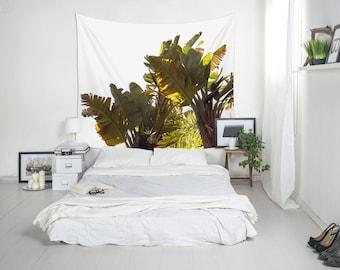 Banana Leaves Wall Tapestries, Tropical Wall Art, Banana Tree Decor, Wall Tapestries, Tropical Decorations