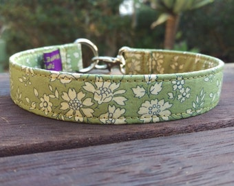 "Liberty of London Tag Clip Collar - Whippet, and Small to Medium Dog - House Collar - 3/4"" width - Capel"