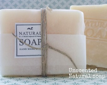Unscented soap, natural soap, non perfume soap, sensitive skin soap, vegan soap