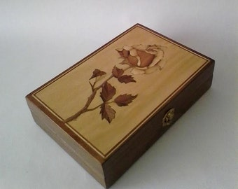 NEW!!!! Handmade - Megical Rose Wooden Box