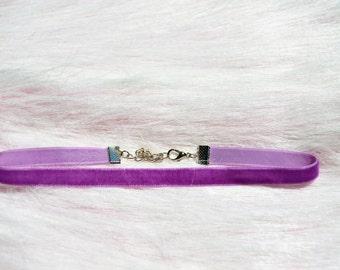 Purple Velveteen Choker