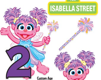 Abby Cadabby Cake Topper Etsy - Elmo and abby birthday cake