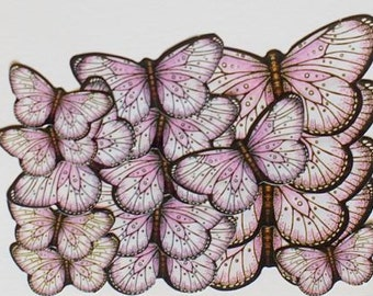 Soft Pink Butterfly Stickers