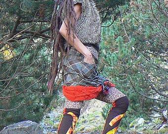 patchwork winter leggings