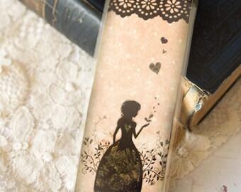 Bookmark - bookmark with fibers - Miss Shadow - Garden