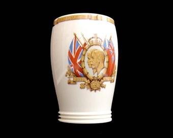 1935 Vintage Mintons Mug Cup 1935 Silver Jubilee George V Mary Royal Family Royal Souvenir