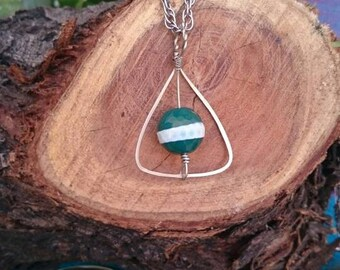Deathly Hallows Necklace - Handmade Pendant Evil Eye