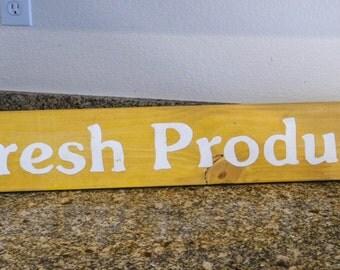 Fresh Produce - Wood sign 6 x 36