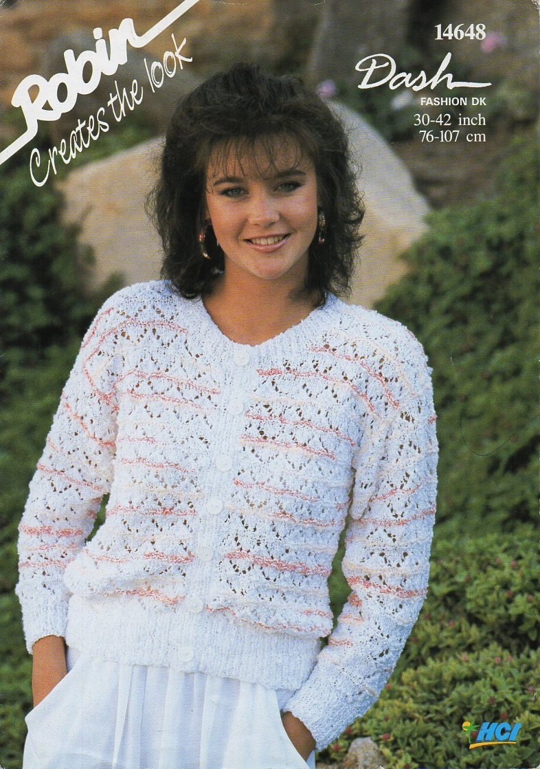Womens dk cardigan knitting pattern pdf ladies lacy jacket round this is a digital file bankloansurffo Image collections