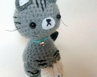 Crochet Cat Plush Tabby Cat | Stuffed Animal Cat | Crochet Animal | Tabby Cat Crochet  | Stuffed Animals | Crochet Cat Stuffed Animal Cat