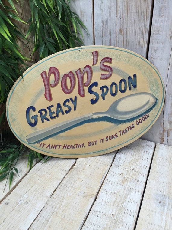 Pop's Greasy Spoon Sign