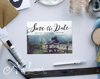 Save the Date - Photo Save the date - Wedding Invitation - Save-the-date- wedding postcard - Printable Wedding - Custom Save the date