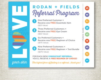 Rodan and Fields Referral Cards