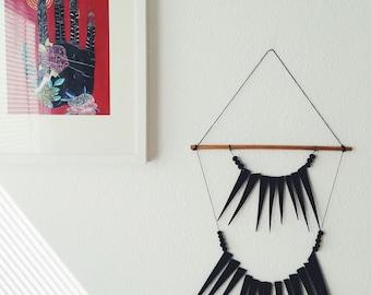 Selene Black Thorn Wall Hanging