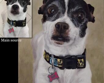 Pet Painting, Dog portrait, Pet portrait, Dog Art - oil painting on stretched canvas. ***Lowest price is 50% DEPOSIT price***