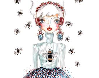 Bee Lady (Print)