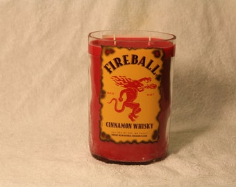 Huge Fireball Bottle Cinnamon-Scented Candle - Awesomely Strong Cinnamon Fragrance!
