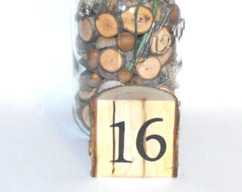 Wood Table Numbers ~ Rustic Wood Table Numbers ~ Wood Table Numbers ~ Woodland Wedding table numbers ~ Rustic Wedding ~ Log Table numbers