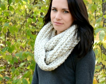 The Elgon Infinity Scarf ∙ Chunky ∙ Wheat