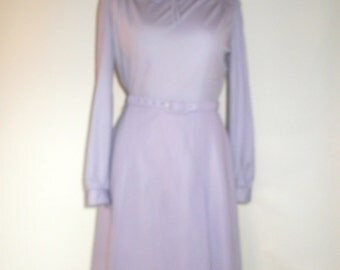 Vintage dress lilac dress by Carnegie of London bow tie dress size medium