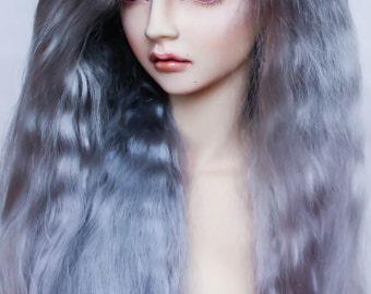 Long Angora mohair wig for bjd