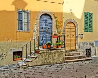Italy photo print 'Tuscan Doors' Fine Art Print - door photography - Italy street photography - Tuscany