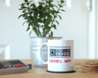 Level Up!' Retro Gamer Inspired Mug