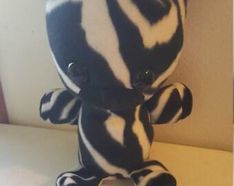 Zebra - fleece stuffed animal