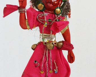 Nepal Hindu Spirit Dancer Wooden 1970s