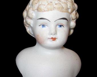 Vintage Miniature bisque doll head