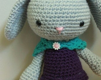 Crocheted stuffed animal bunny - Andrea  Easter Bunny  Made to order  Customizable