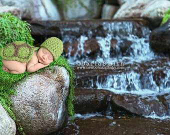 Digital Backdrop Newborn Digital Outdoor Waterfall Rainforest Moss Scene Newborn Baby Photography Instant Download