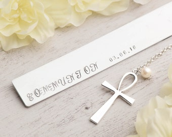 bookmark gift,confirmation gift,first communion gift,bookmark personalize,unique bookmarks,teacher bookmark,custom bookmark,stamped bookmark