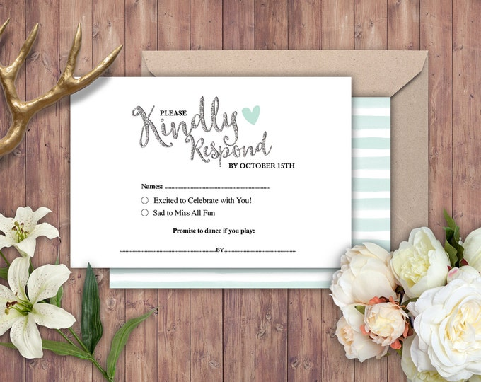 Happily ever after RSVP card, invitation, BOHO wedding shower Invitation, couples shower, arrows, Tribal, wedding, bridal shower invitation