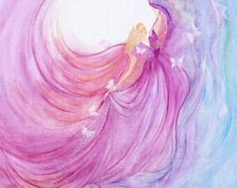 The lightness - image of angels, Angel - art print, reproduction, 21 x 29, 7 cm of fine art print