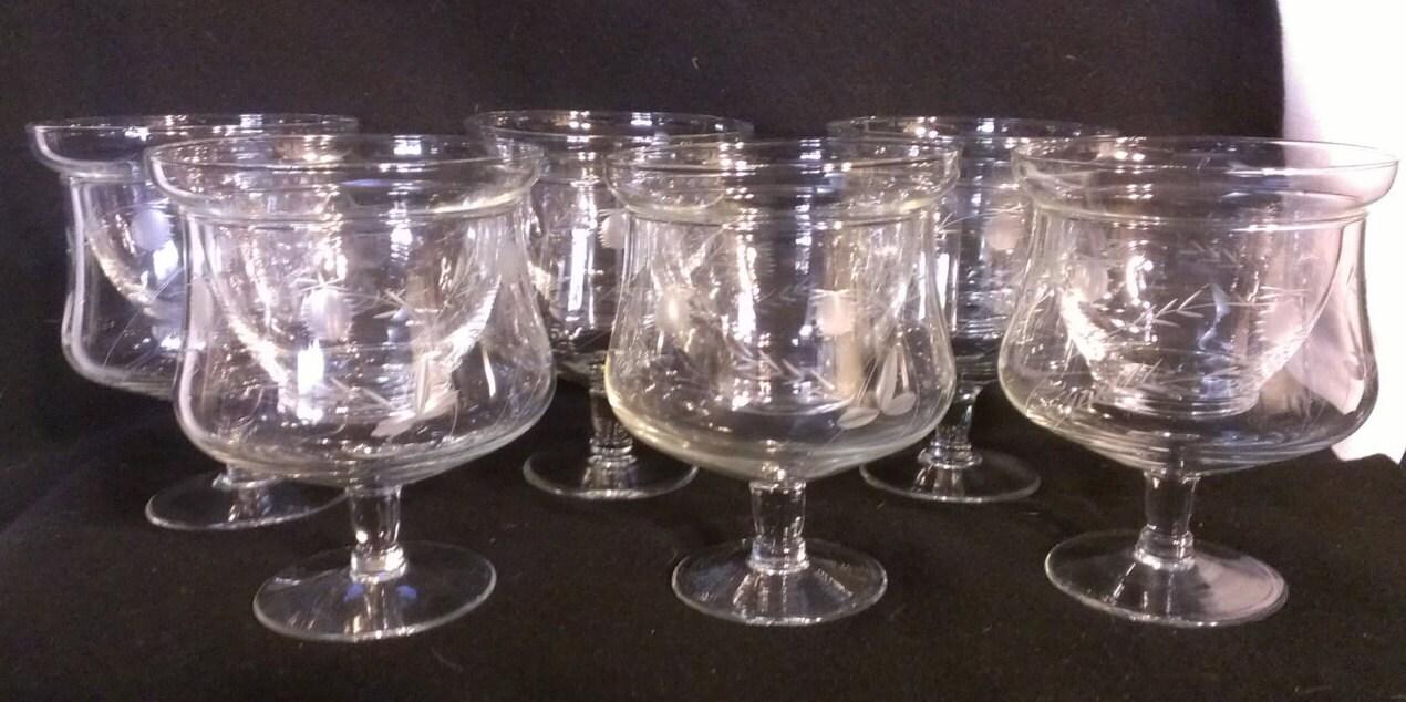 reserved etched crystal shrimp cocktail glasses with glass. Black Bedroom Furniture Sets. Home Design Ideas