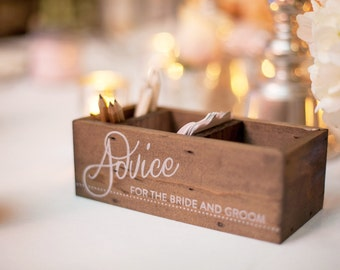 Wooden Advice Boxes --Set of 2--
