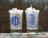 Big Little Shot Glass Set With Names, Personalized Sorority Shot Glasses