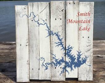 Smith Mountain Lake Virginia Repurposed Pallet Board Painting