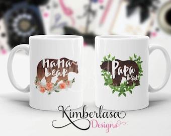 mama bear mug | papa bear mug | fathers day | mothers day | dad mug | dad gift | gift for dad | father mug | bear mug | gift for mom