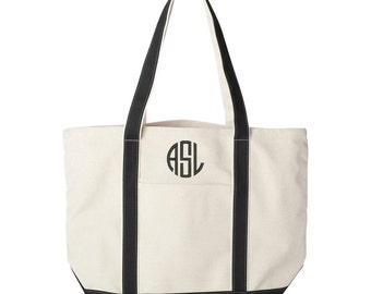 Canvas Tote bag, Monogrammed tote bag, personalized tote bag, Personalized Graduation Gift, bridesmaid tote bag, College Tote Bag, Beach Bag