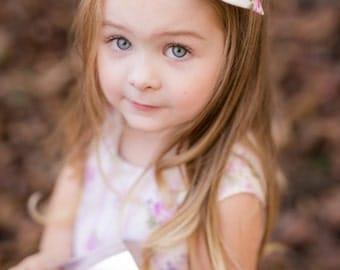 Floral Hair Bow / Girls Hair Accessory / Hair Bow