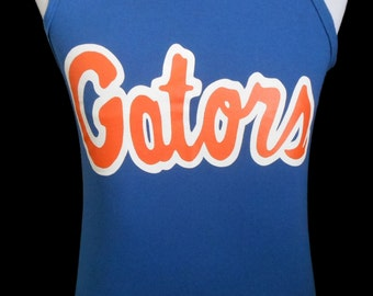 Vintage 80s 90s  Florida Gators Tank Top, 1980s 1990s Throwback Gator Nation Tee, Adult Size Medium to Large