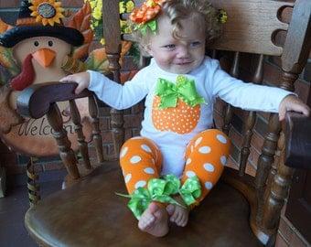 Baby girl Halloween costume - Baby girl pumpkin outfit - baby girl halloween outfit - pumpkin onesie - pumpkin tutu - pumpkin leg warmers