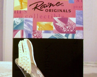 "Just The Right Shoe, Miniature Shoes, Fantasy Shoes, Raine Shoe Collection, Just The Right Shoe ""Sea of Pearls"" ."