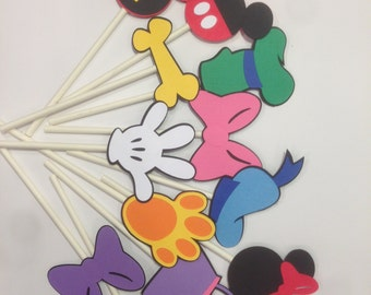 Mickey Mouse Clubhouse Cupcake Toppers, Mickey Mouse Cupcake Toppers