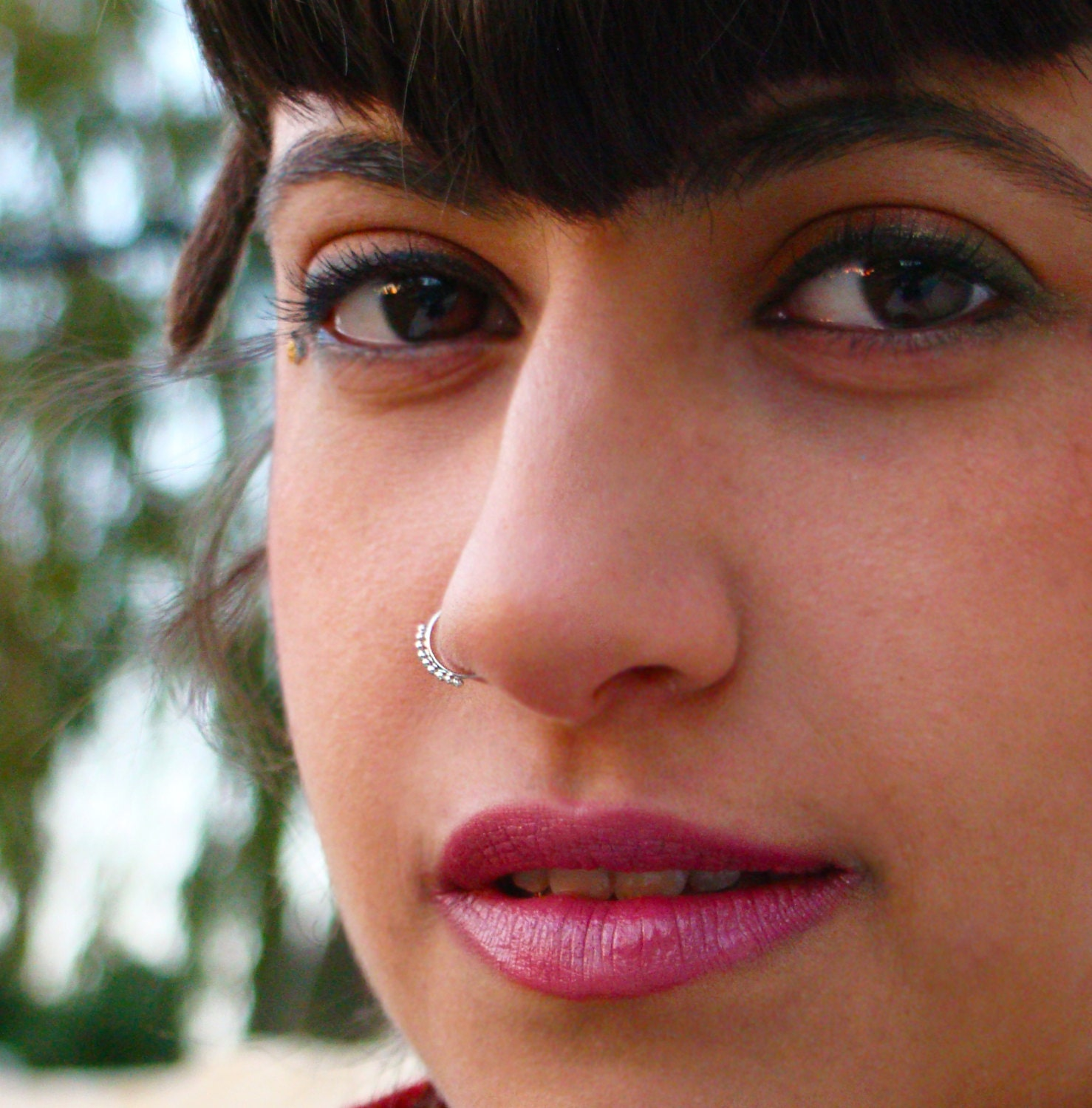 Tribal Nose Ring Silver Nose Ring Nose Ring By Shirazelohevjewelry