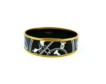vintage hermes leather bracelet