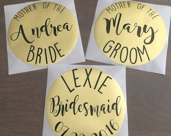 Custom Bridal Party Stickers - Gift Bag Labels - Bridesmaid Gifts - Rehearsal Dinner Gift - Wedding
